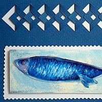 Maritime Card with Blue Fish