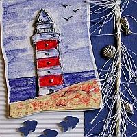 Maritime Card with Lighthouse Motif