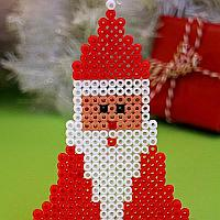 Melting Beads Santa Claus Ornament
