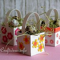 Mini Easter Baskets with Eggs