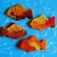 Needle Felted Fish Detail