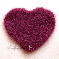 Needle Felted Heart Applique