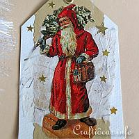 Nostalgic Father Christmas Gift Tag