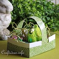 Origami Easter Basket with Eggs