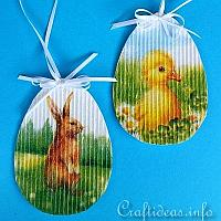 Paper Easter Egg Ornaments