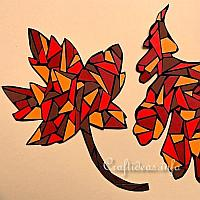 Paper Mosaic Leaves
