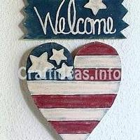 Patriotic Welcome Sign