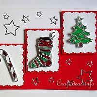 Peel Off Stickers Holiday Card