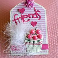 Pink Friends Gift Tag for Teens