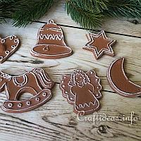 Plaster of Paris Christmas Cookie Ornaments