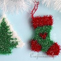 Plastic Canvas Christmas Tree Ornaments