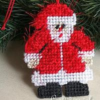 Plastic Canvas Santa Ornament