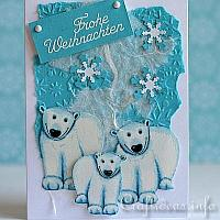 Polar Bears Greeting Card for the Holidays