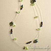 Pretty Green Beaded Necklace