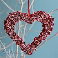 Quilled Paper Heart Decoration