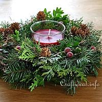 200 Red Christmas Centerpiece
