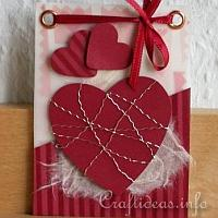 Red Hearts Artist Trading Card