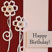 Red and White Birthday Card