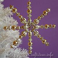 Silver Beaded Snowflake
