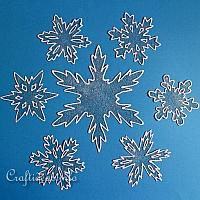 Snowflake Window Clings for Winter