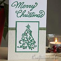 Sparkling Tree Greeting Card for the Holidays