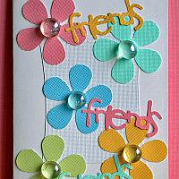 Spring Cards - Friends Card with Pastel Flowers