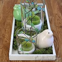 Spring Decorating With Green and White
