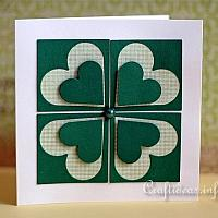 St. Patrick's Day Card With a Shamrock