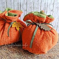 Terry Cloth Pumpkins