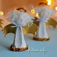 Upcycling Craft - Egg Carton Angels