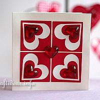 Valentine's Day Card - Elegant Hearts