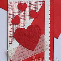 Valentine's Day Card - Red Hearts and Love