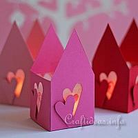 Valentine's Day Paper Tea Light House