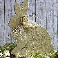 Vintage Wooden Bunny Craft