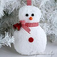Washcloth Snowman