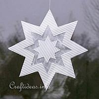 White Paper Star Window Decoration