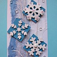 Winter Snowflakes Christmas Card