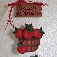 Wooden Apples Sign