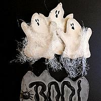 Wooden Ghosts Door Sign for Halloween