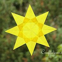 Yellow Transparent Star