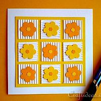 Cheery Patchwork Flowers Card