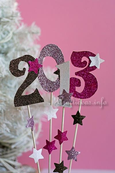 Paper Craft - Easy Glittery Table Decoration for a New ...
