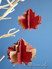 3-D Maple Leaves