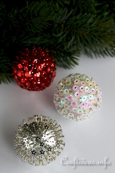 3-D Sequin Ornaments 1