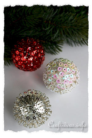 3-D Sequin Ornaments