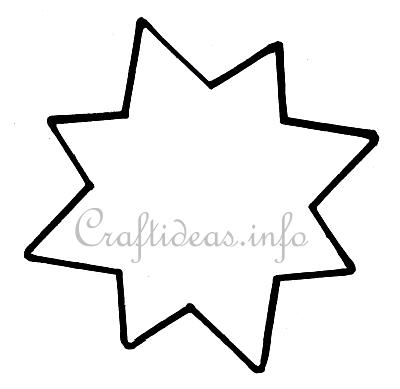 Christmas Craft - Eight Pointed Star Template