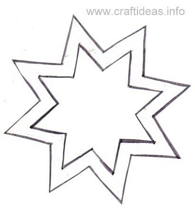 Free Craft Pattern For  Sided Star