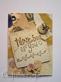 ATC - Artist Trading Cards - Thinking of You ATC