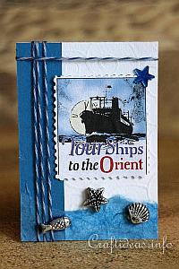 ATC Craft - Blue Travel Artist Trading Card