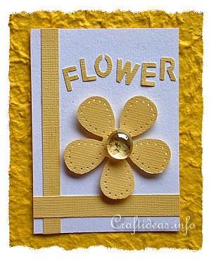ATC Craft - Flower Artist Trading Card with Yellow Flower Motif